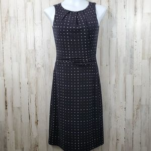 Ann Taylor Womens Dress XS Black White Polka Dot